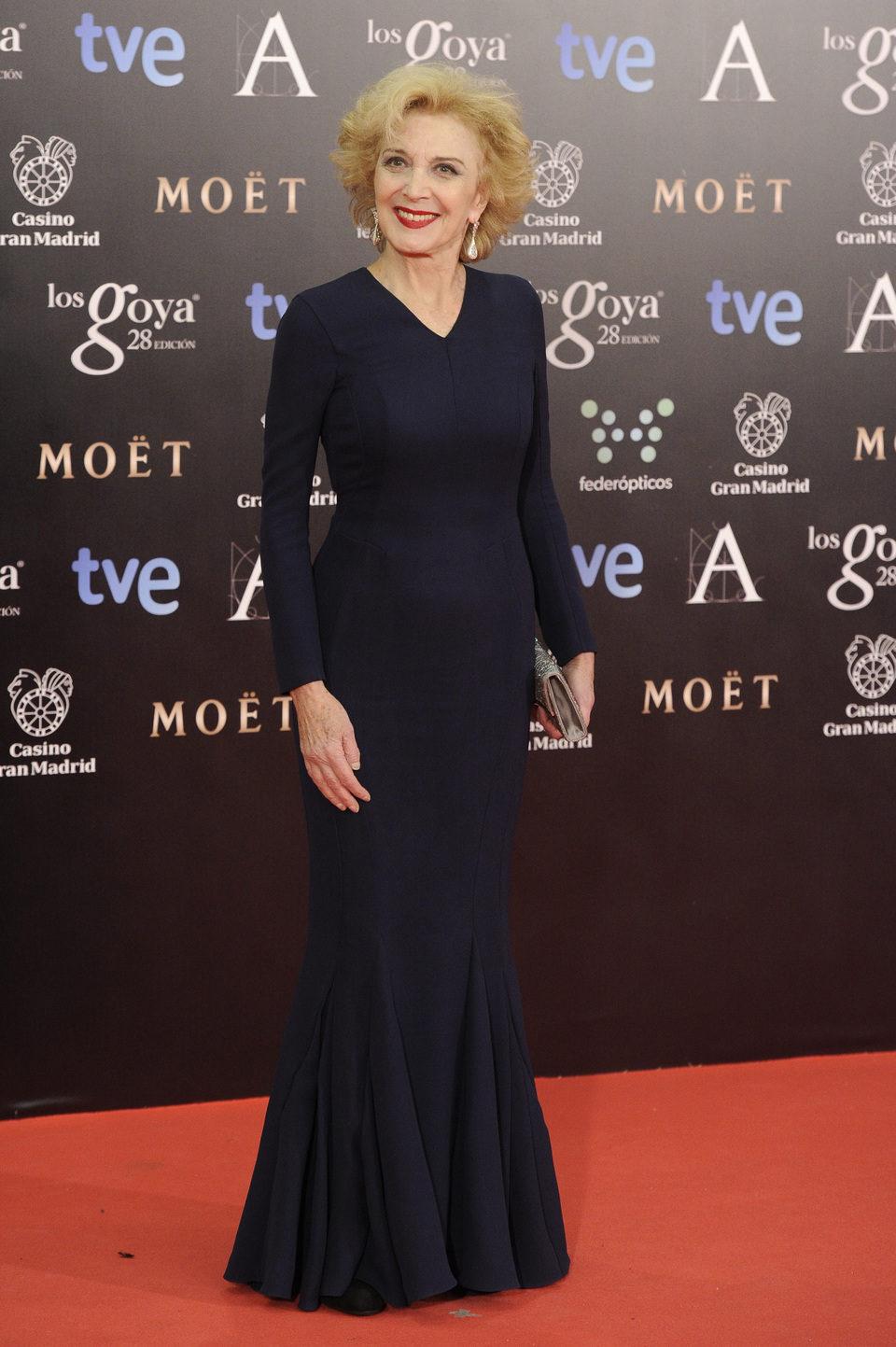 Marisa Paredes en la alfombra roja de los Premios Goya 2014