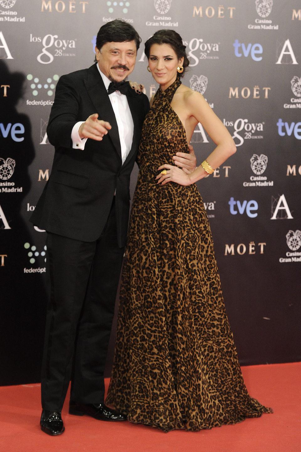 Carlos Bardem y Cecilia Gessa en la alfombra roja de los Goya 2014