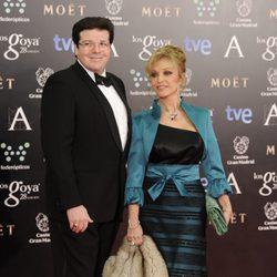 Silvia Tortosa y Carlos Cánovas en los Goya 2014