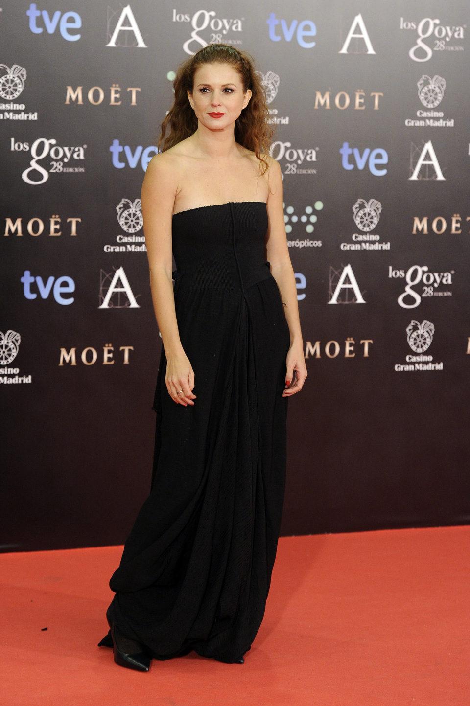 Marián Aguilera en los Premios Goya 2014