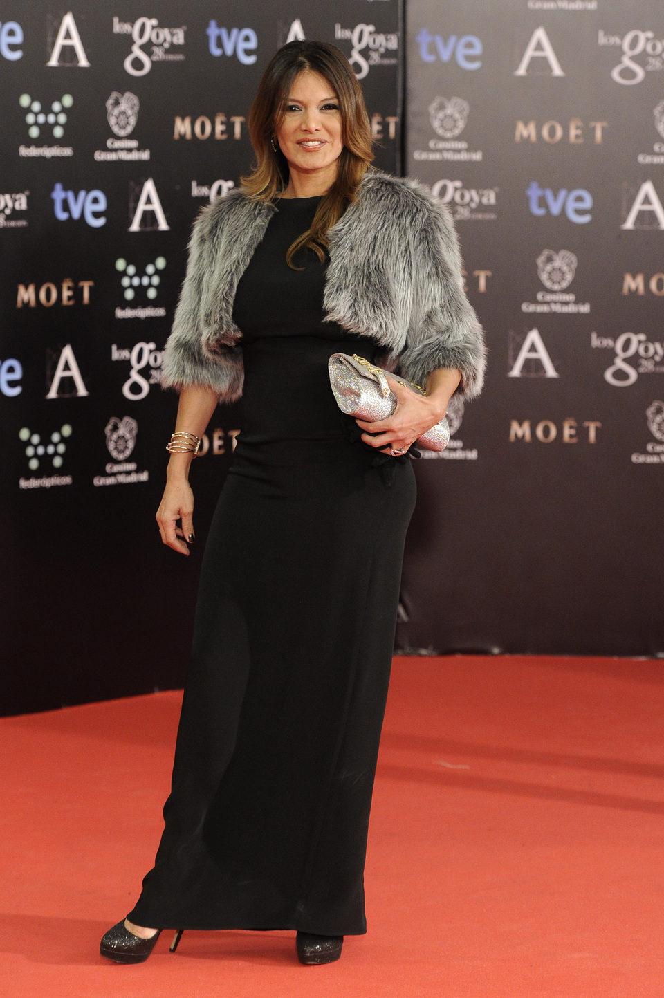Ivonne Reyes en la alfombra roja de los Goya 2014