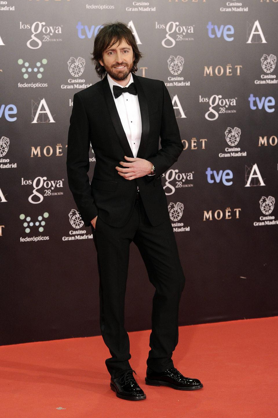 Daniel Sánchez Arévalo en la alfombra roja de los Goya 2014