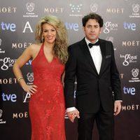 Antonio Garrido y Lucía Díaz en los Goya 2014