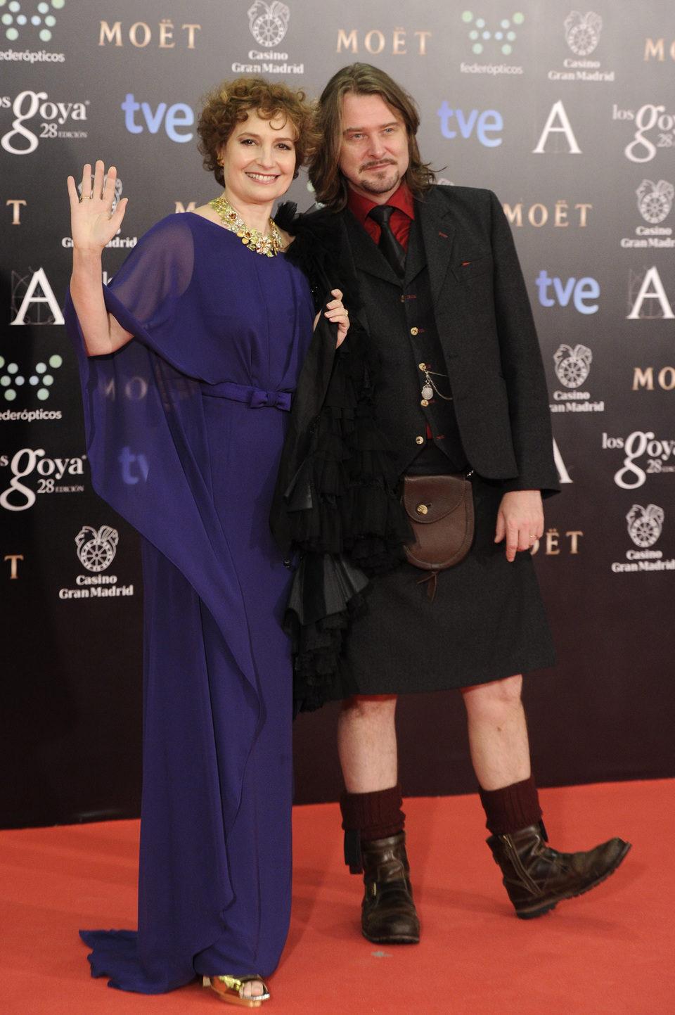 Scott Cleverdon y Assumpta Serna en los Goya 2014