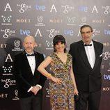 Emilio Pina, Judith Collel y Enrique González Macho en los Premios Goya 2014