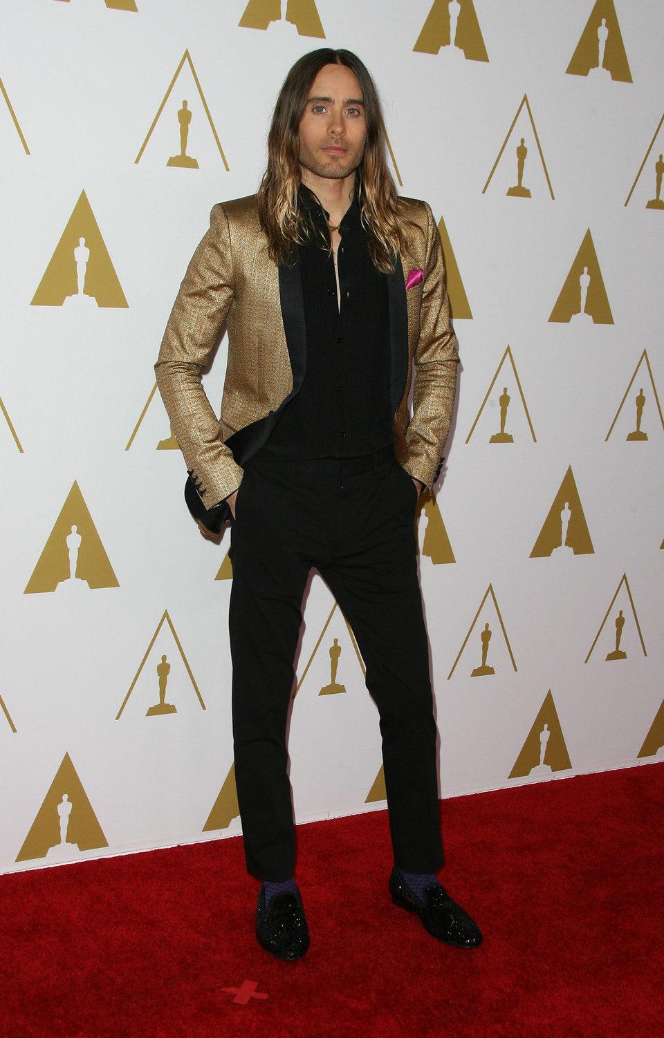 Jared Leto en el almuerzo de los nominados a los Premios Oscar 2014