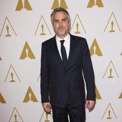 Alfonso Cuarón en el almuerzo de los nominados a los Premios Oscar 2014