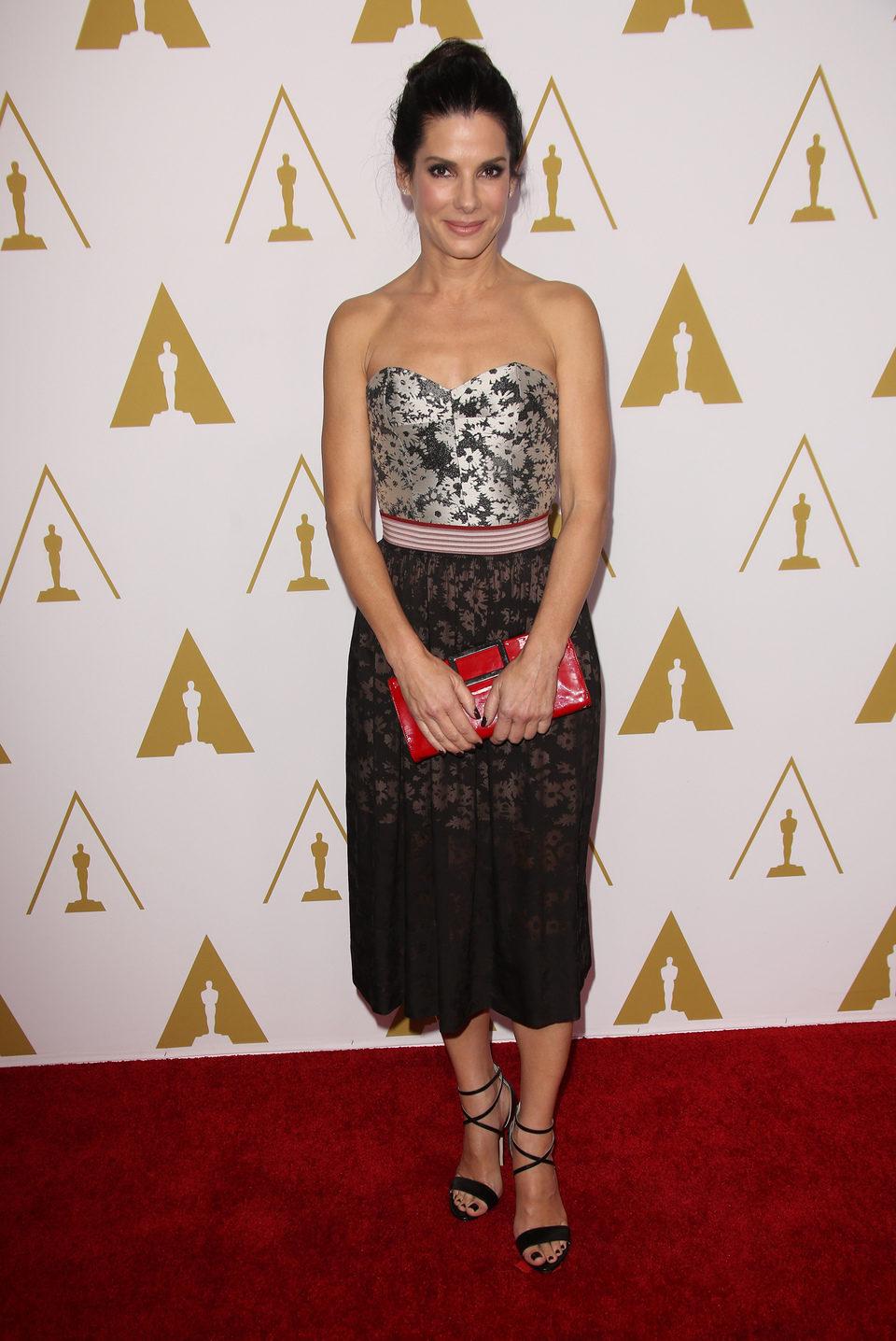 Sandra Bullock en el almuerzo de los nominados a los Premios Oscar 2014
