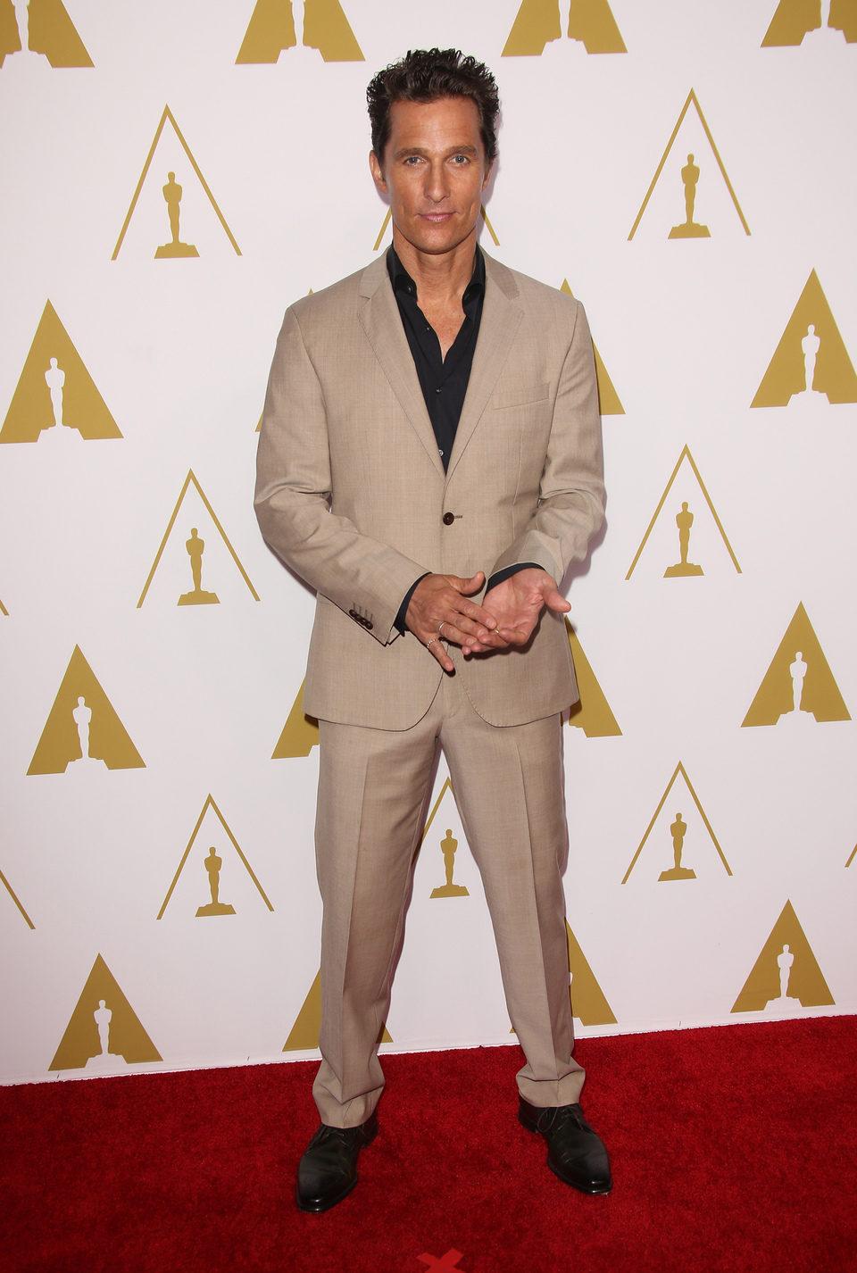 Matthew McConaughey en el almuerzo de los nominados a los Premios Oscar 2014