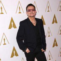 Bono en el almuerzo de los nominados a los Premios Oscar 2014