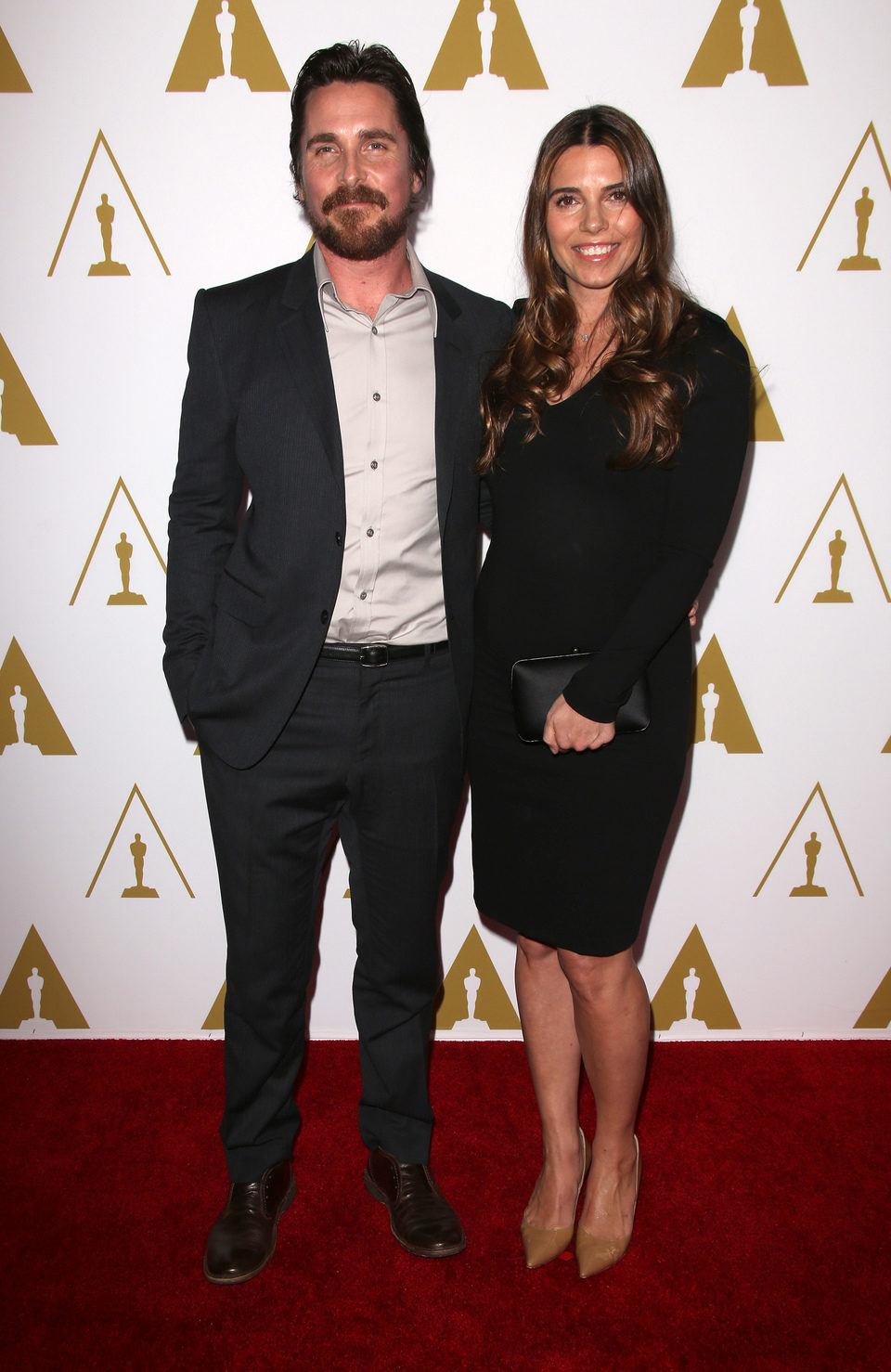 Christian Bale y Sibi Blazic en el almuerzo de los nominados a los Premios Oscar 2014