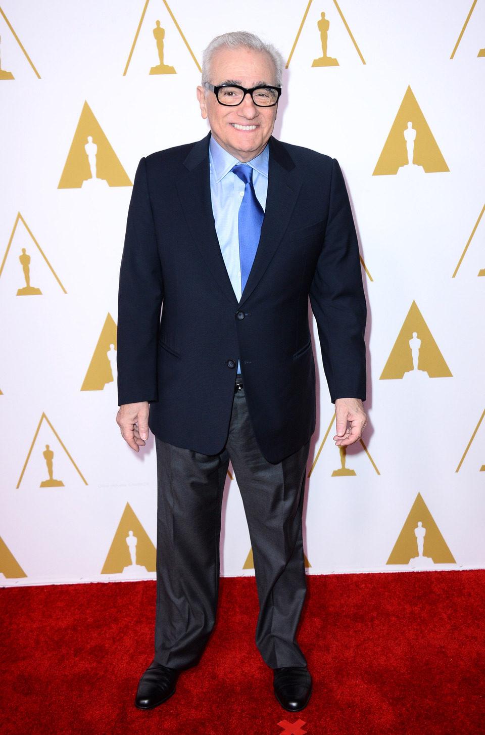 Martin Scorsese en el almuerzo de los nominados a los Premios Oscar 2014
