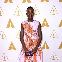 Lupita Nyong'o en el almuerzo de los nominados a los Premios Oscar 2014