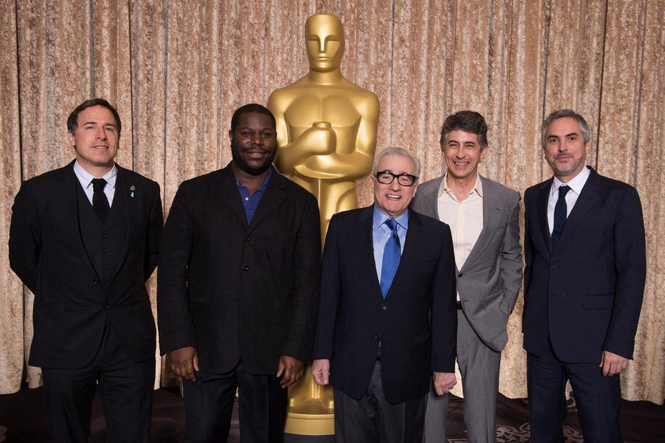 Foto de grupo de los directores candidatos al Oscar 2014 en el almuerzo de los nominados