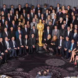 Foto de grupo del almuerzo de los nominados a los Premios Oscar 2014