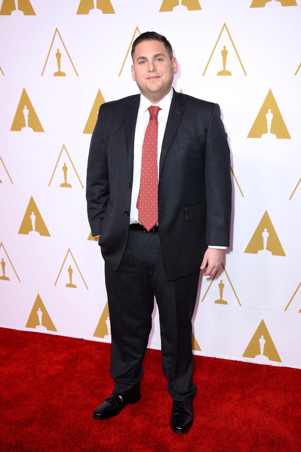 Jonah Hill en el almuerzo de los nominados a los Premios Oscar 2014