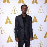 Barkhad Abdi en el almuerzo de los nominados a los Premios Oscar 2014