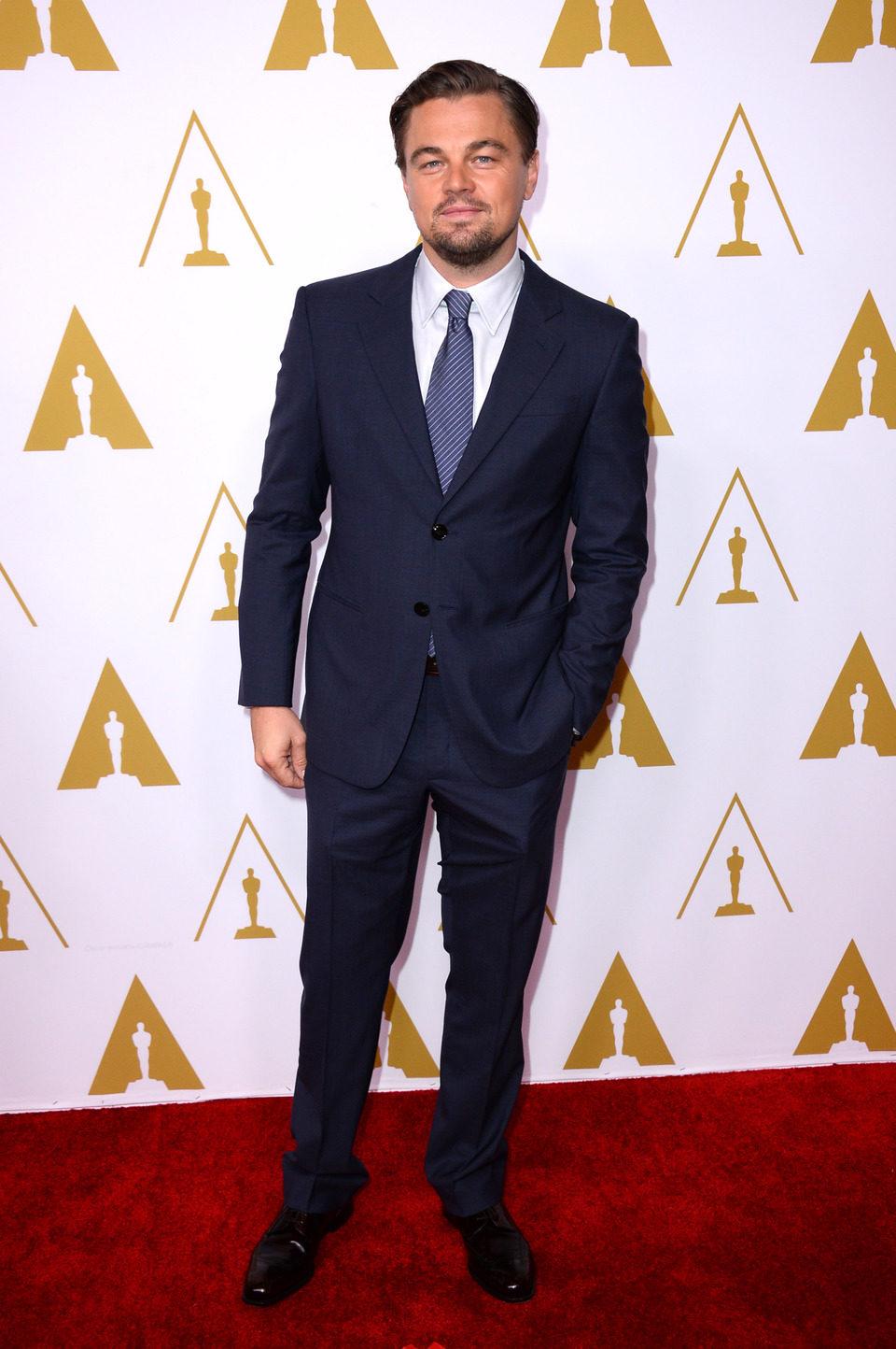 Leonardo DiCaprio en el almuerzo de los nominados a los Premios Oscar 2014