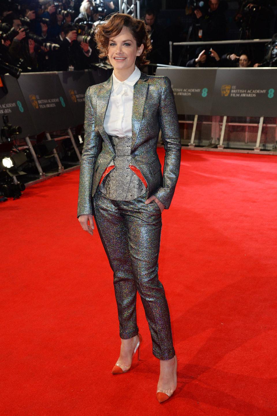 Ruth Wilson en la alfombra roja de los BAFTA 2014