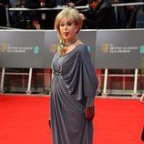 Sally Farmiloe en los Premios BAFTA 2014