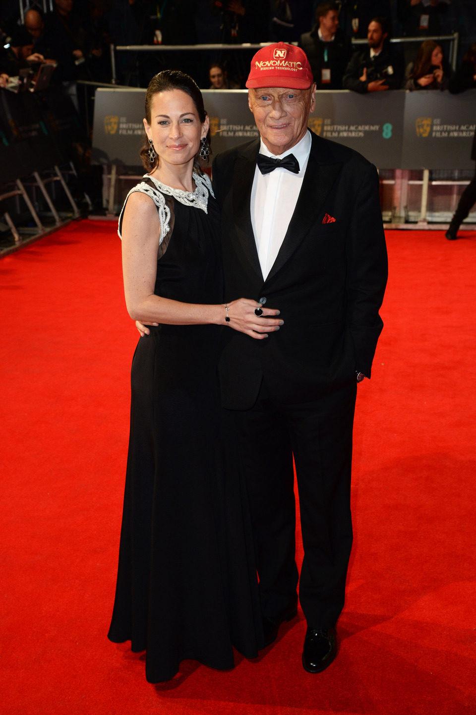 Niki Lauda en los Premios BAFTA 2014
