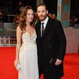 Kelly Marcel y Tom Hardy en los BAFTA 2014