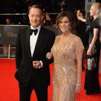 Tom Hanks en la alfombra roja de los BAFTA 2014