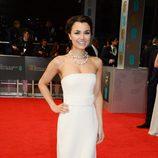 Samantha Barks en la alfombra roja de los BAFTA 2014