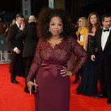 Oprah Winfrey en la alfombra roja de los BAFTA 2014