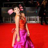 Lily Allen en la alfombra roja de los BAFTA 2014
