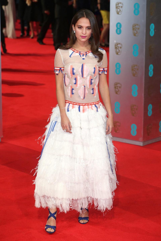 Alicia Vikander en los Premios BAFTA 2014