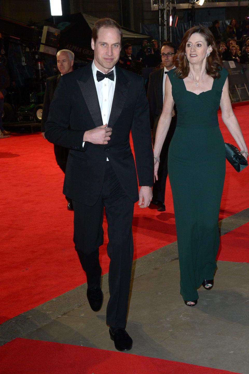 El Príncipe Guillermo en la alfombra roja de los BAFTA 2014