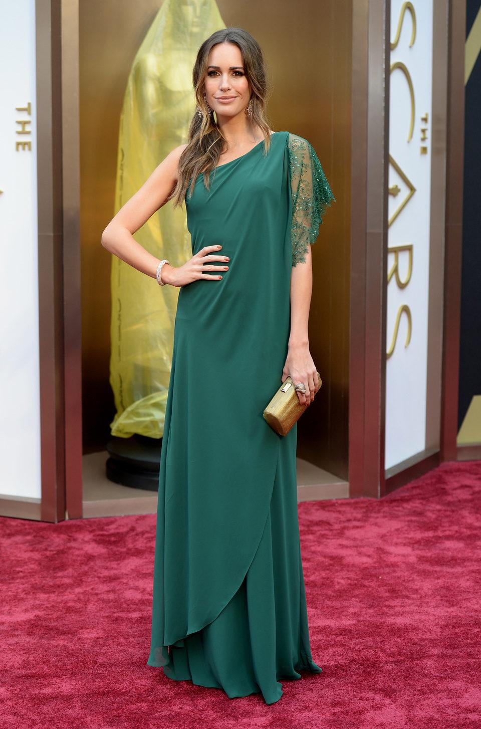 Louise Roe en la alfombra roja de los Oscar 2014
