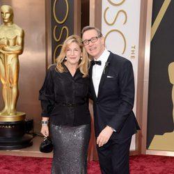 Laurie Karon y Paul Feig en los Oscar 2014