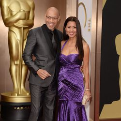 John Ridley y Gayle Ridley en los Oscar 2014