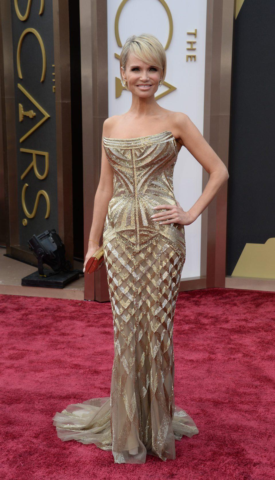 Kristin Chenoweth en la alfombra roja de los Oscar 2014