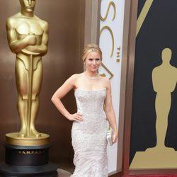 Kristen Bell en la alfombra roja de los premios Oscar 2014