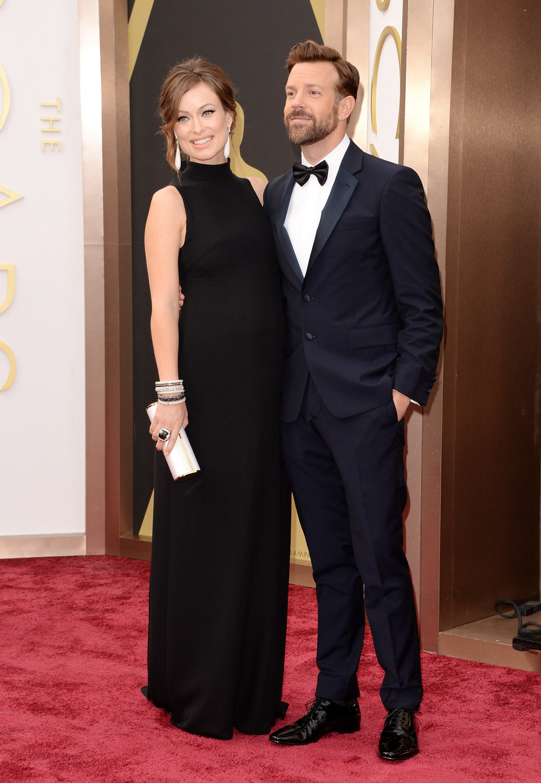 Olivia Wilde y Jason Sudeikis en los Oscar 2014