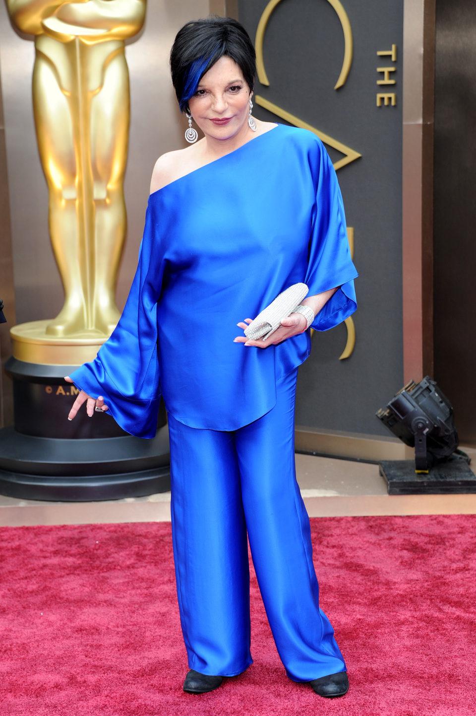 Liza Minelli en la alfombra roja de los Oscar 2014