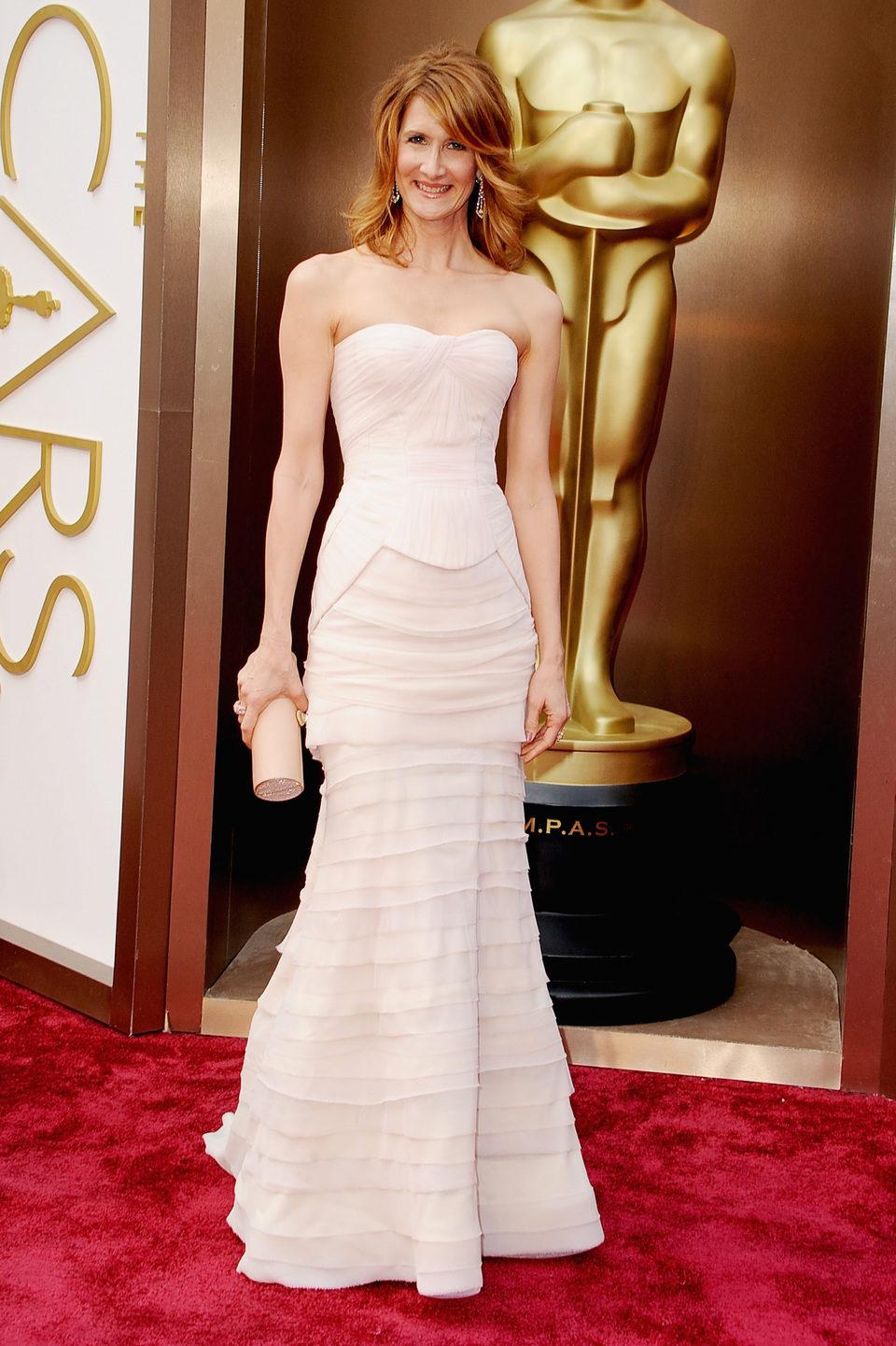 Laura Dern en la alfombra roja de los Oscar 2014