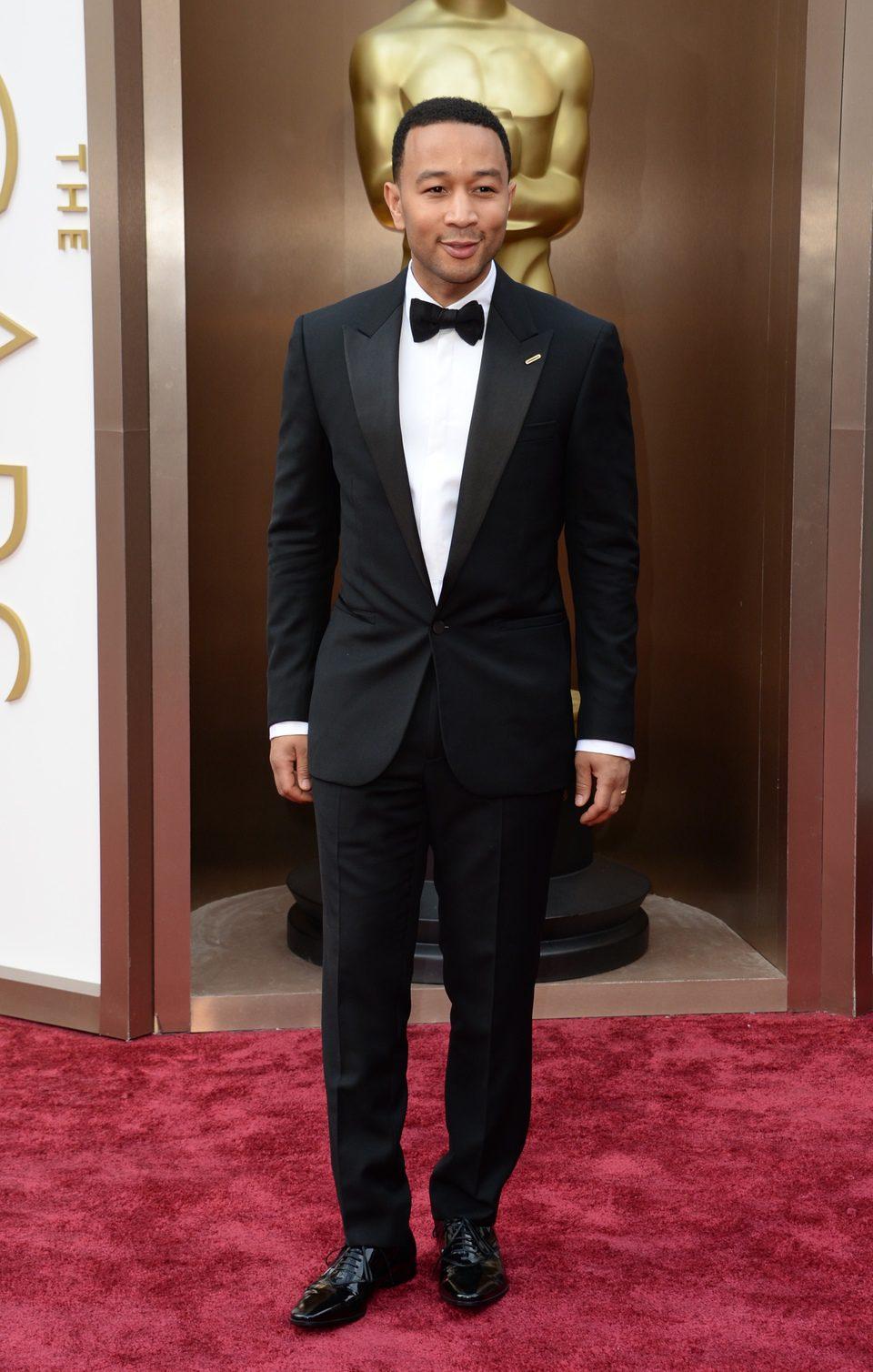 John Legend en la alfombra roja de los Oscar 2014