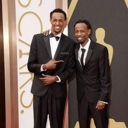 Faysal Ahmed y Barkhad Abdi en los Oscar 2014