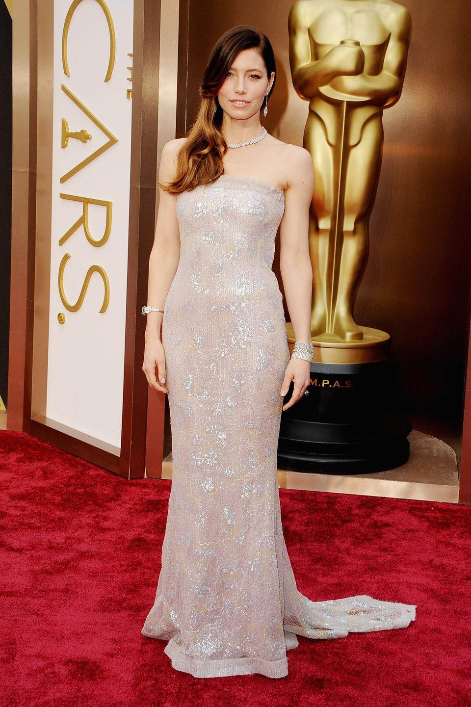 Jessica Biel en los Oscars 2014