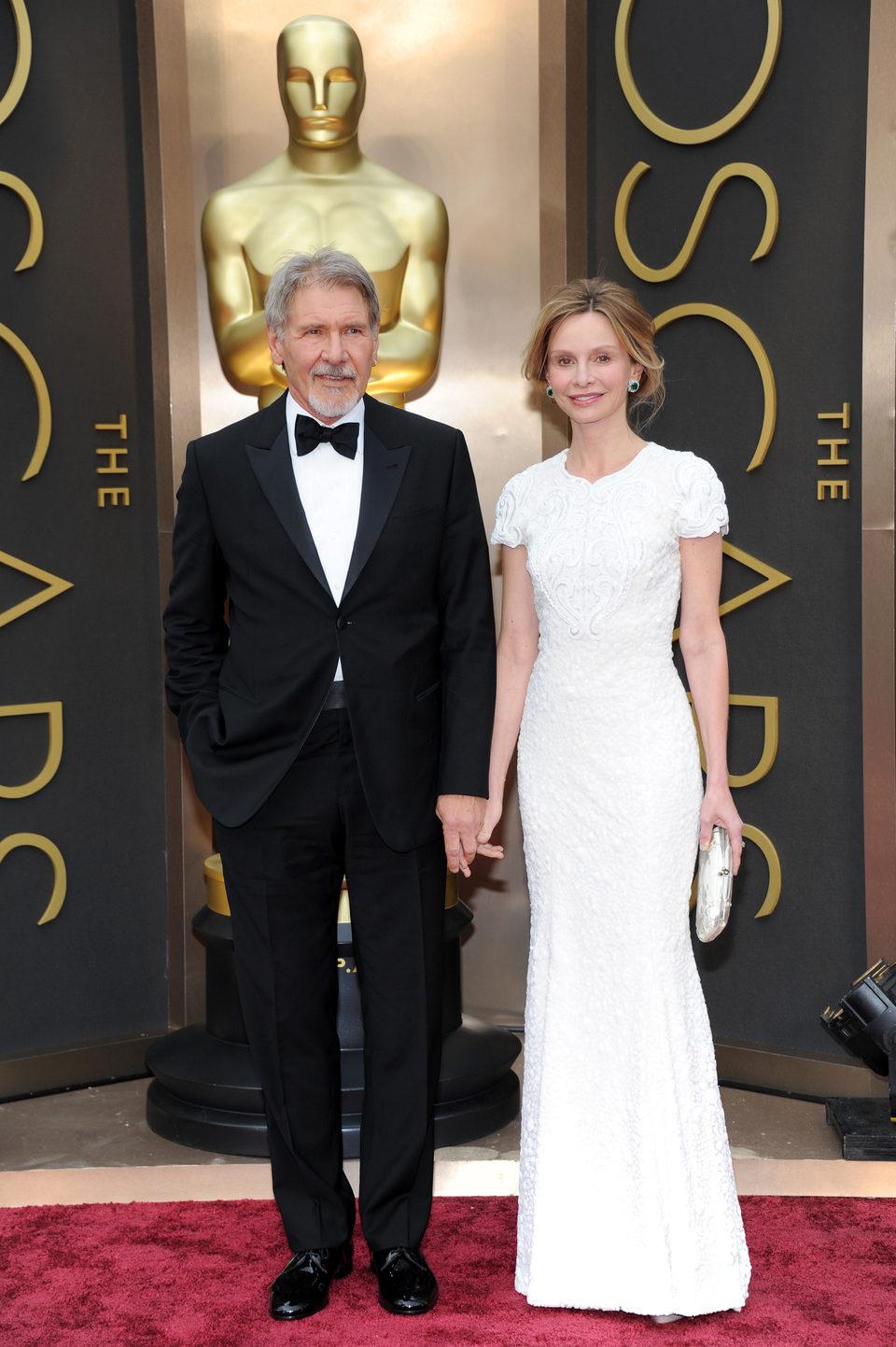 Harrison Ford y Calista Flockart en los Oscar 2014