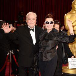 Stacy Keach y Malgosia Tomassi en los Oscar 2014