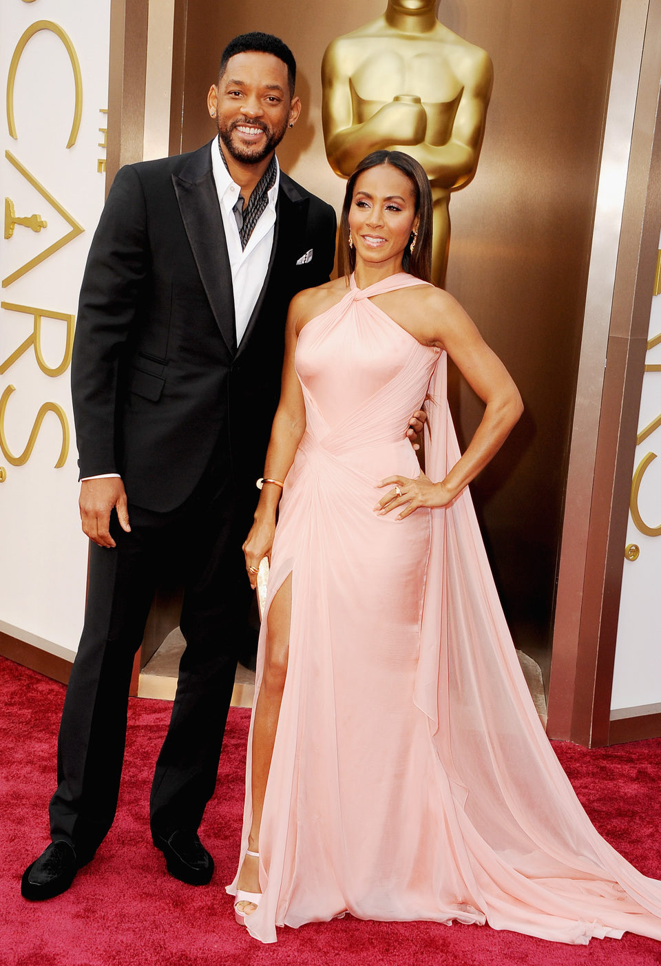 Will Smith y Jada Pinkett Smith en los Oscars 2014
