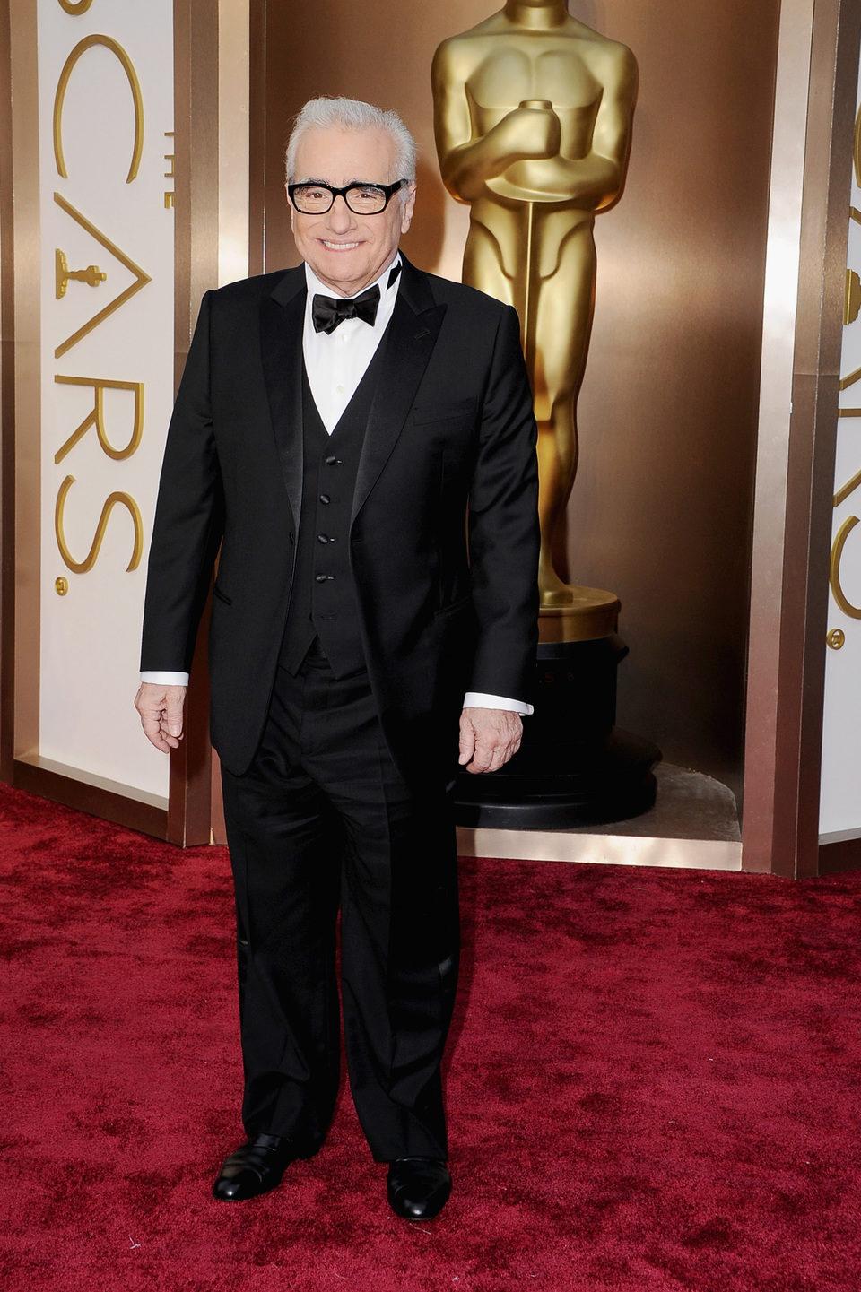 Martin Scorsese en la alfombra roja de los Oscar 2014