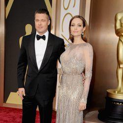 Angelina Jolie y Brad Pitt en los Oscar 2014