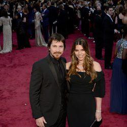 Christian Bale y Sibi Blazic en los Oscar 2014
