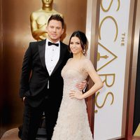 Channing Tatum and Jenna Dewan-Tatum on the red carpet at the 2014 Oscars